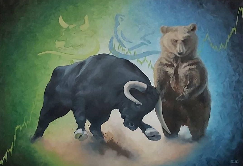Bull and bear-forex